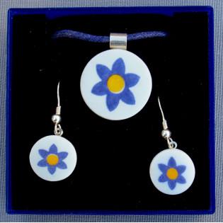 Conjunto Flor Azul