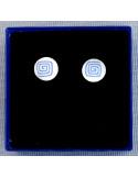 Pendientes redondos Espiral Cuadrada Azul (Pequeños)