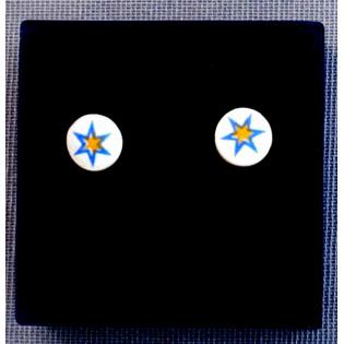 Pendientes redondos Estrella Azul (Pequeños)